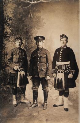 Joe, Henry and Thomas Tobin, First World War