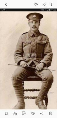 Ernest Woodham, Private Middlesex Regiment