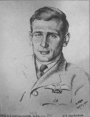 Arthur John Hodgkinson, RAF - SN 45353 - Flt Lt - DSO DFC and Bar