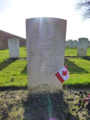 Walter George Birkett, PVT, #294, Driver, 2nd Div Ammunition Column, Canadian Field Artillery