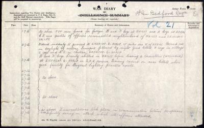 Sidney Mason, 9705 Private 1st Bn Bedfordshire Regiment