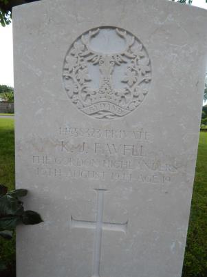 'Jack' Kenneth Favell, Private14558323 1st Bat Gordon Highlanders