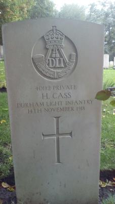 Henry (Harry) Cass, Private 40182 Durham Light Infantry