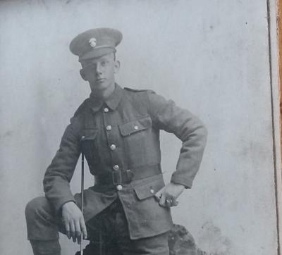 HARRY ARNOLD EVERSON, PRIVATE 4500 NORTHUMBERLAND FUSILLERS