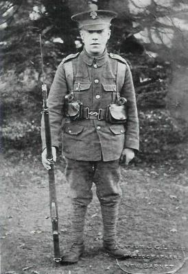 Walter Wally Faulkner, Royal Fusiliers (London regiment) service number 4467