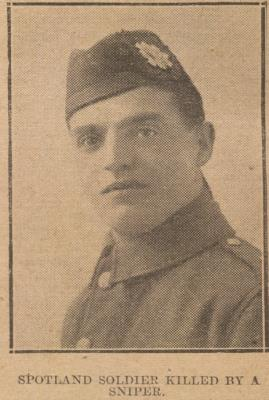 Charles Wright, Private, Highland Light Infantry