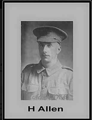 Ernest Henry (Harry) Allen, Lance Corporal 11th Btn, Kings Royal Rifle Corps