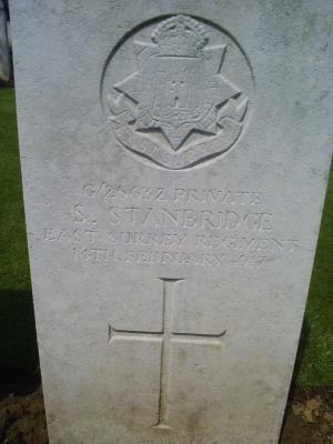 Samuel  Stanbridge, Private Middlesex Regiment