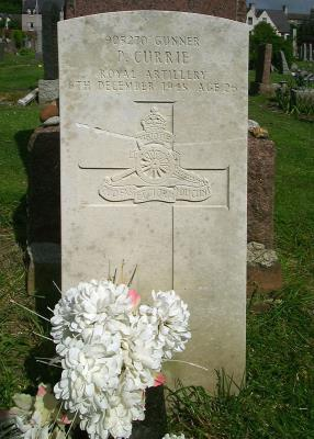 Peter  Currie, Gunner, Royal Artillery, WW2