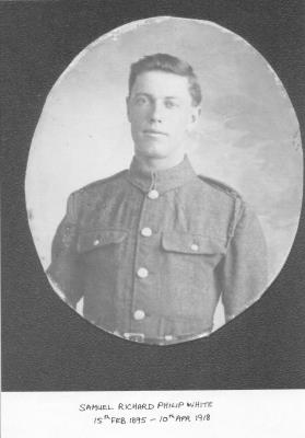 samuel richard philip white, 46944, 23rd ( Tyneside Scottish) Bn., Northumberland Fusiliers. Private.