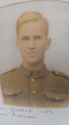 james Robinson , Lance Corporal 1173 RWR