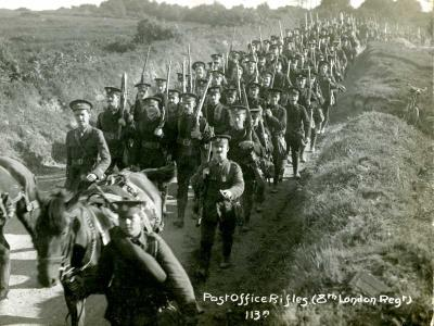 Ernest F Whitfield, 8th London Regiment (Post Office Rifles)