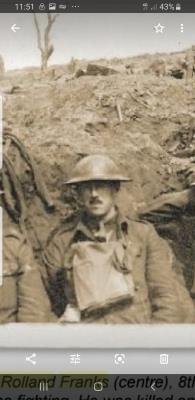 Rolland Franks, Lieutenant, East Surrey Regiment