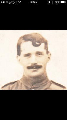 George Ainsley, Private 9338. 2nd Battalion, York and Lancaster Regiment