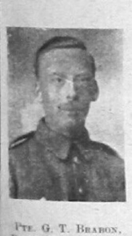 George Thomas Braban, G/12135, 7th Royal Sussex Regiment