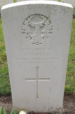 Alexander Whyte, Gordon Highlanders 5th Battalion / Private
