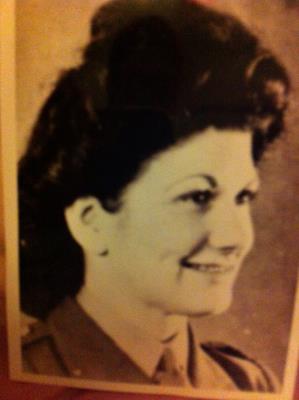 Marjorie H  Johnson - nee Howarth, ATS ACK-ACK WW11.  Born 1924 - 01/08/2016