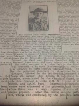 James Frederick  Dyson, Private, TR4/78346. 53 rd Battalion, Welsh Regiment. Died 15 October 1918. Born & lived: Reddish. En