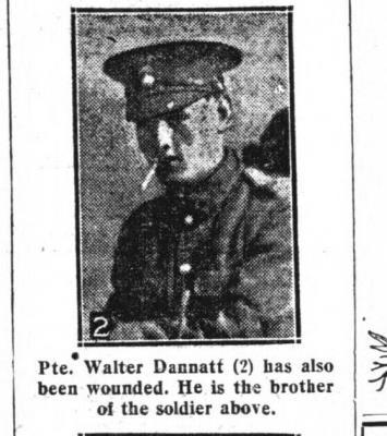 Walter Dannatt, Lance Corporal; 12/13th Battalion Northumberland Fusiliers