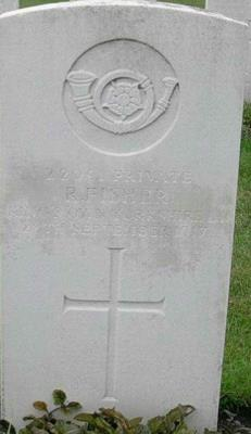 Robert Richard Fisher, Private. 8th Battalion, King's Own Light Infantry