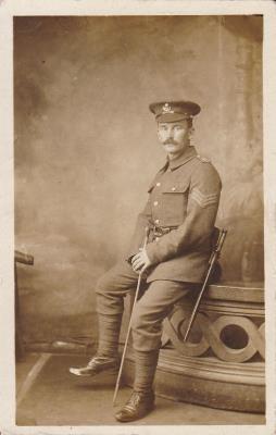 George Hampshire, Sargeantt. Durham Light Infantry