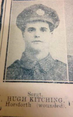 Hugh Kitching, Sergeant 17th Batallion Prince of Wales' Own (West Yorkshire Regiment) - killed in action 09.10.1917