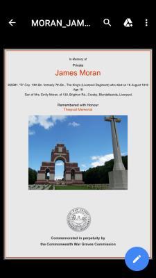 James Moran, Private Kings Liverpool