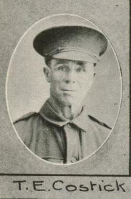 Thomas Edwin Cosstick, Private, 25th. Batt. Australian Infantry
