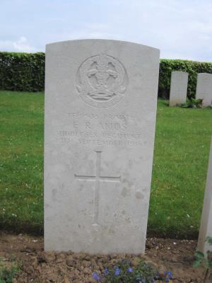 Ernest Amos, Private TF/9503 1st/7th Btn Middlesex Regiment.
