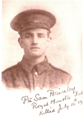 Samuel Brierley, Private - Royal Munster Fusiliers - Formerly Kings Own Light Infantry