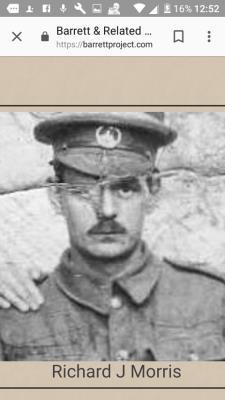 Richard  Morris, Sargent South Wales borderers