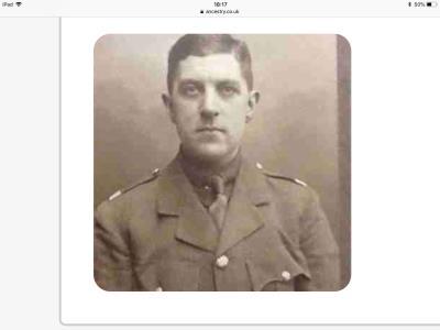 Harold ker Forster, Second lieutenant 6th battalion London regiment