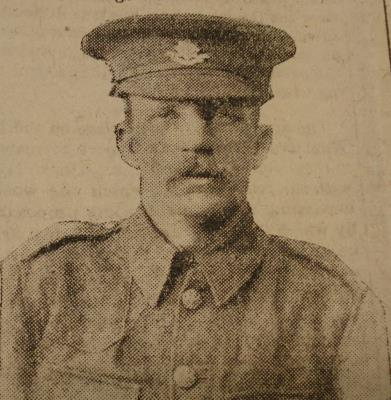 William John Broadfield, Private 9711 4th Worcestershire Regiment