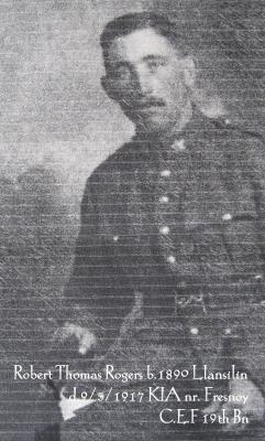 Robert Thomas Rogers, Canadian 19th Battalion. Private