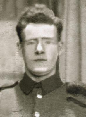 John Roarty, Private, 1st Middlesex Regiment, D Coy, 15 plt, Pillbox 39 (knocked out)