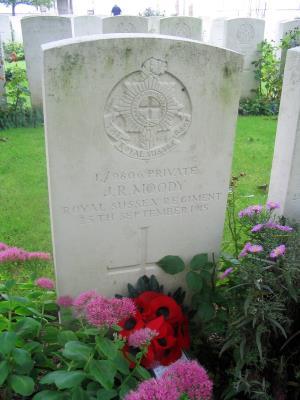 James Richard Moody, Private, 2nd Battalion Royal Sussex Regiment
