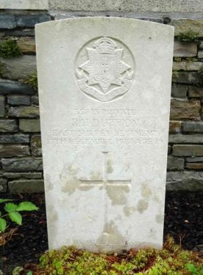 Reginald Horace Dutton, Private of the 7th Battalion, East Surrey Regiment.