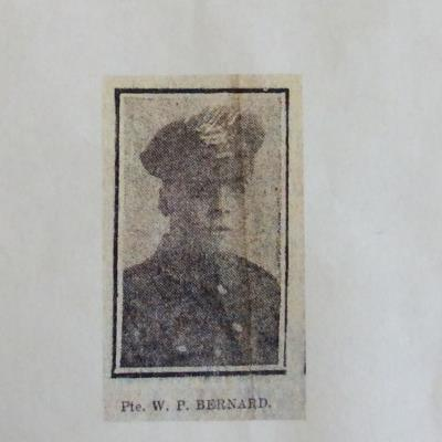 William Percival  Bernard , 60646 pte15th battalion West Yorkshire regiment (prince of wales own)