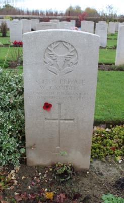 William  Campbell, Private, 1st Bn, Seaforth Highlanders, S/4305