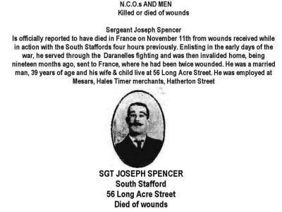 Joseph Spencer, Sergeant