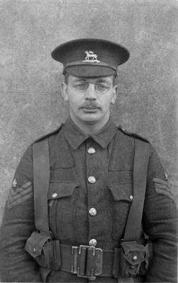 Joseph H G Sheen, No22 C.Q.M.S 1/24th Battalion County of London Regiment (The Queens)