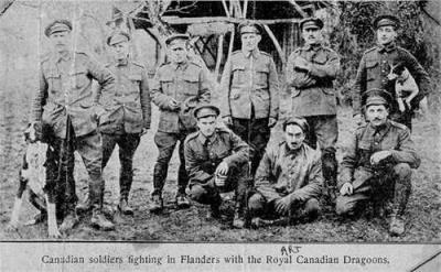 "Joseph Arthur ""Art"" Lauzon, Royal Canadian Dragoons"