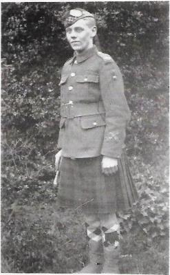 Robert Charles Balmer Robson, S/41276  Private 7th Seaforth Highlanders.