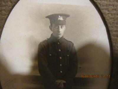 Clarence Sharp, Private 31170 East Yorkshire Regiment Formerly Private 25406 1st Battalion, West Yorkshire Regiment