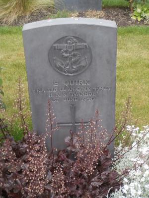 """Ernest Quirk, Engine Room Artificer """"HMS Ivanhoe"""", #C/MX49923"""