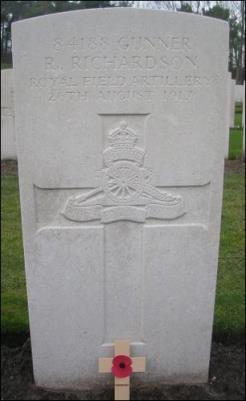 Reginald Richardson, Gunner 84188, Royal Field Artillery