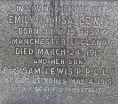 Samuel Lewis, Private, Princess Patricia's Canadian Light Infantry; an Original