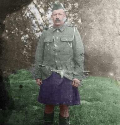 William Paterson, Private 9th battalion black watch
