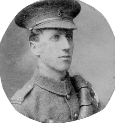 Leslie Castle, Lance Corporal,16th (Royal Devon and R. North Devon Yeomanry) Battalion, Devonshire Regiment.