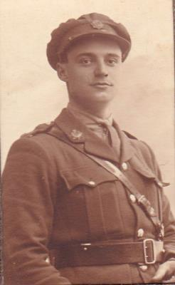 james hill, second lieutnant welsh regiment 18é bataillon